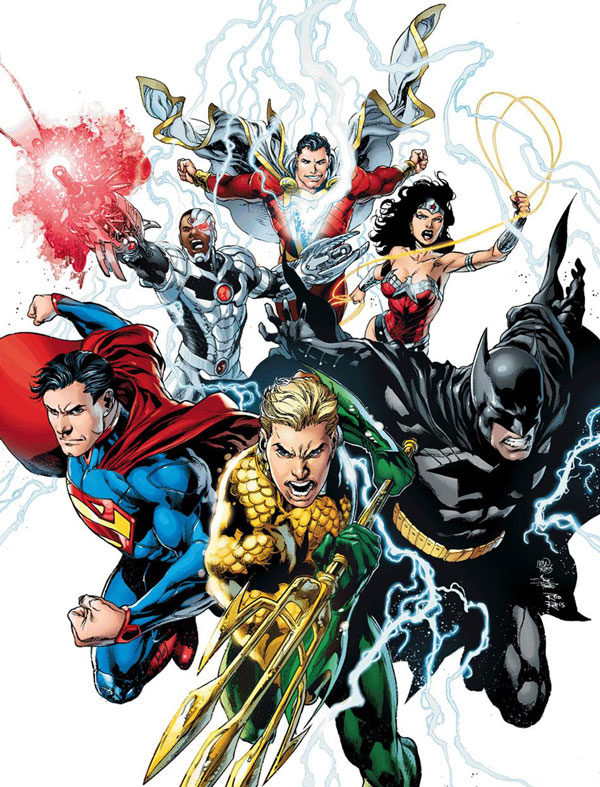 Justice League by Ivan Reis with White Background